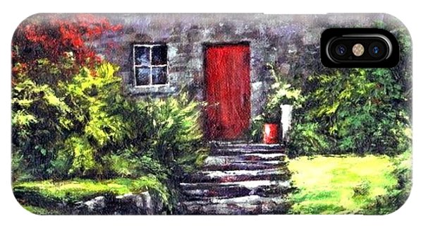 iPhone Case - The Red Door by Jim Gola