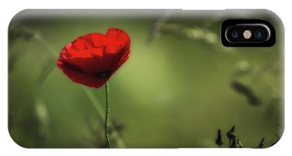 Wiese iPhone Case - The Red Dot by Hans Zimmer