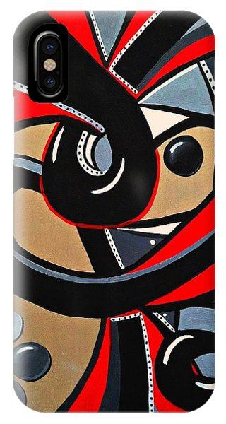 Red And Black Abstract Art Painting IPhone Case