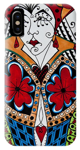 IPhone Case featuring the painting The Red Queen by Jani Freimann