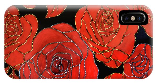 The Red Red Roses IPhone Case