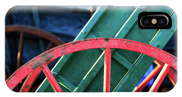 The Red Wagon Wheel IPhone Case