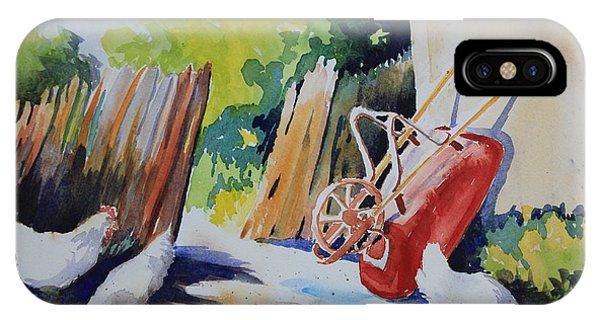 Barnyard iPhone Case - The Red Wheelbarrow by Marsha Reeves