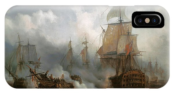 The Redoutable In The Battle Of Trafalgar, October 21, 1805 IPhone Case