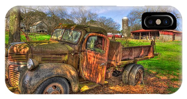 The Resting Place Boswell Farm 1947 Dodge Dump Truck IPhone Case