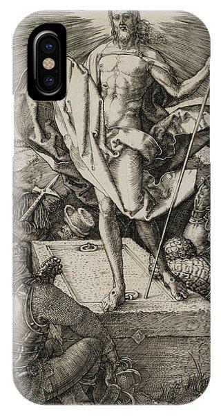 Albrecht Durer iPhone Case - The Resurrection by Albrecht Durer