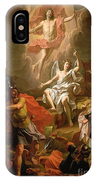 Life Of Christ iPhone Case - The Resurrection Of Christ by Noel Coypel