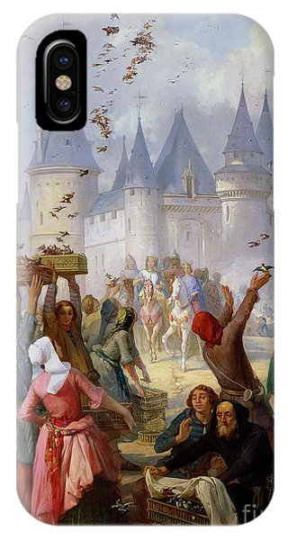 King Charles iPhone Case - The Return Of Saint Louis Blanche Of Castille To Notre Dame Paris by Pierre Charles Marquis