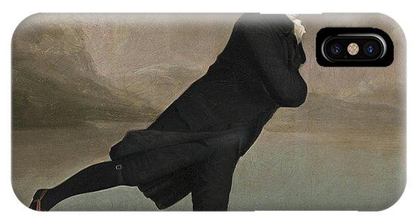 Culture Club iPhone Case - The Reverend Robert Walker Skating On Duddingston Loch by Sir Henry Raeburn