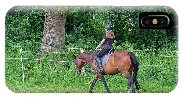 The Riding School In Suburb IPhone Case