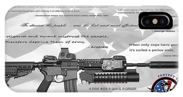 Weapons iPhone Case - The Right To Bear Arms by Daniel Hagerman