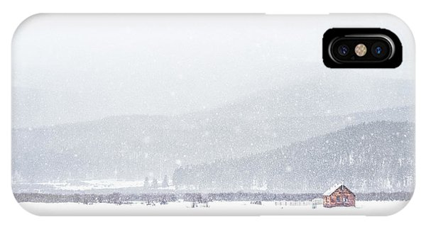 Distant iPhone Case - The Rise Of Winter by Evelina Kremsdorf
