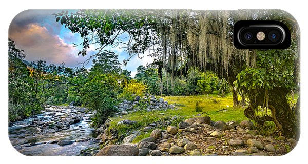 The River At Cocora IPhone Case