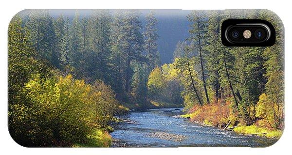 The River Runs Through Autumn IPhone Case