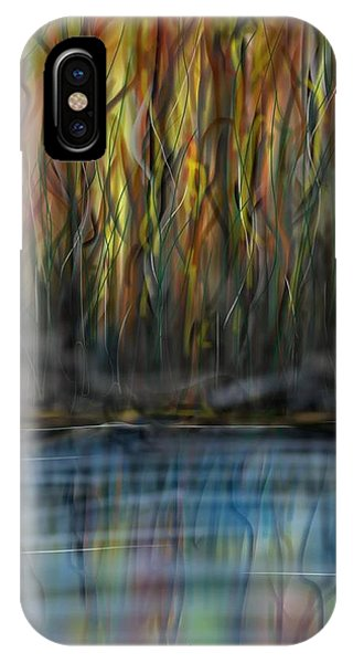 IPhone Case featuring the digital art The River Side by Darren Cannell