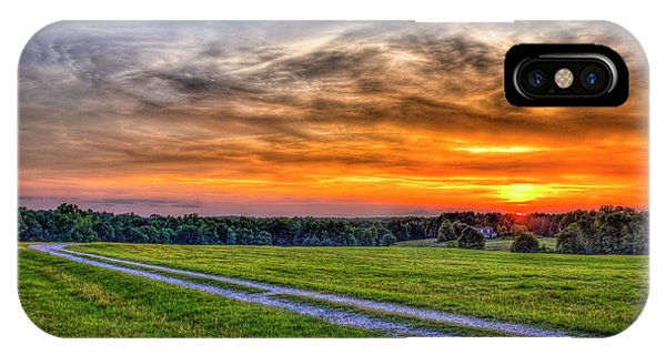 The Road Home Sunset  Country Living Art IPhone Case