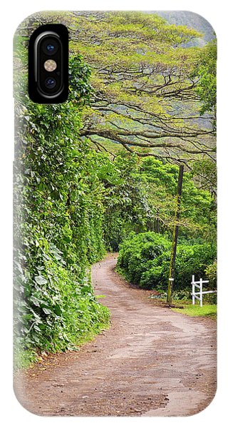 The Road Less Traveled-waipio Valley Hawaii IPhone Case