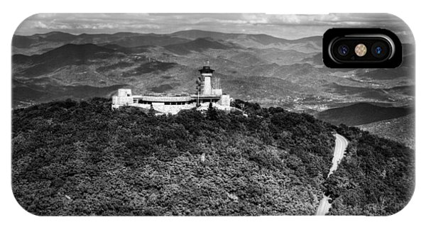 The Road Up To Brasstown Bald In Black And White IPhone Case