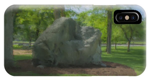The Rock At Frothingham Park, Easton, Ma IPhone Case