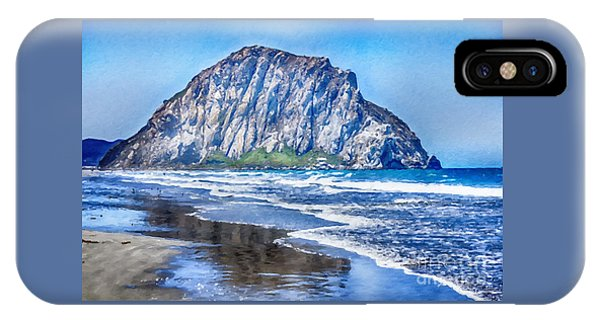 IPhone Case featuring the mixed media Morro Rock Canvas Print,photographic Print,art Print,framed Print,greeting Card,iphone Case, by David Millenheft