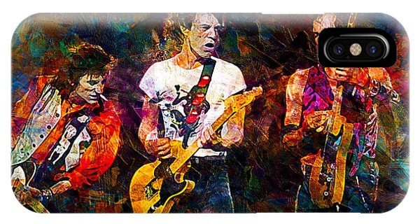 Famous People iPhone Case - The Rolling Stones by Lilia Kosvintseva