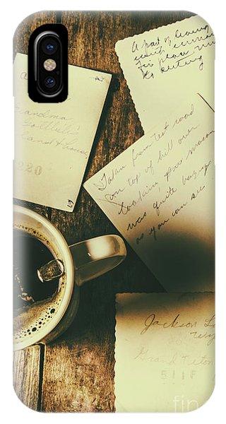 Cafe iPhone Case - The Romantic Writers Loft by Jorgo Photography - Wall Art Gallery