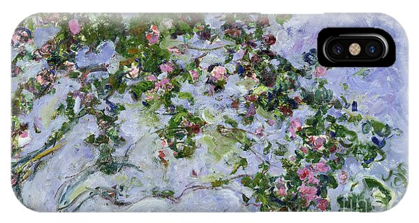 Botany iPhone Case - The Roses by Claude Monet