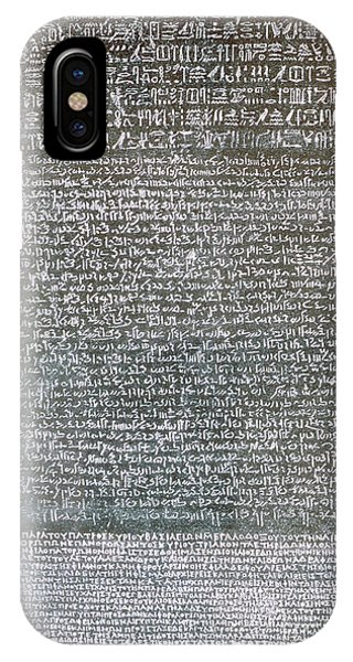 Pharaoh iPhone Case - The Rosetta Stone by Egyptian School