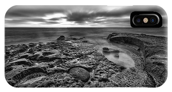 The Rugged California Coast - Black And White IPhone Case