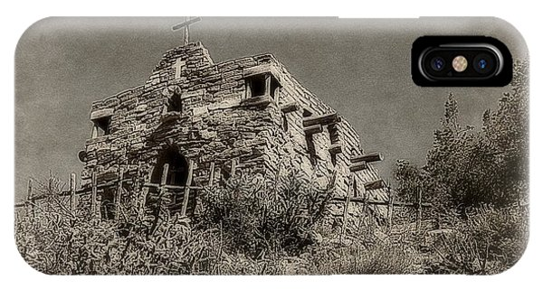Old Rugged Cross iPhone Case - The Rugged Chapel by Toni Abdnour