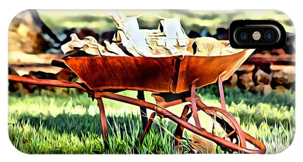 IPhone Case featuring the photograph The Rusted Wheelbarrow by Beauty For God