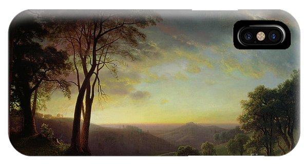 Sacramento iPhone X Case - The Sacramento River Valley  by Albert Bierstadt