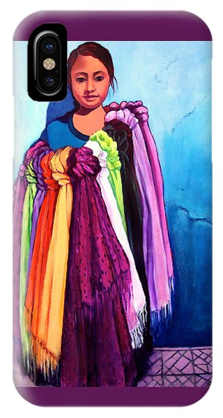 The Scarf Seller IPhone Case