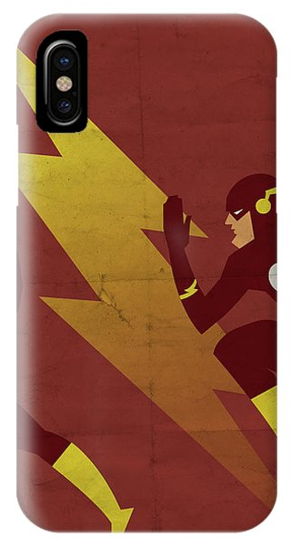 Weather iPhone Case - The Scarlet Speedster by Michael Myers