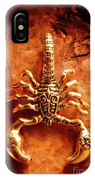 Engraving iPhone Case - The Scorpion Scarab by Jorgo Photography - Wall Art Gallery