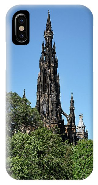 IPhone Case featuring the photograph The Scott Monument In Edinburgh, Scotland by Jeremy Lavender Photography