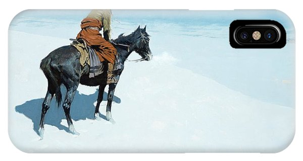 Wild Horses iPhone Case - The Scout Friends Or Foes by Frederic Remington
