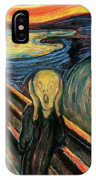 The Scream Flame Tree Edition Phone Case by Edvard Munch