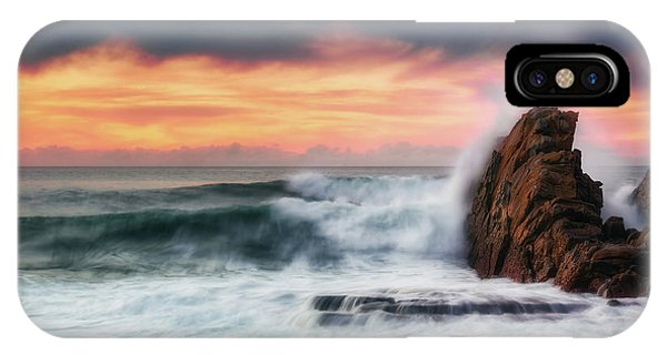 The Sea Against The Rock IPhone Case