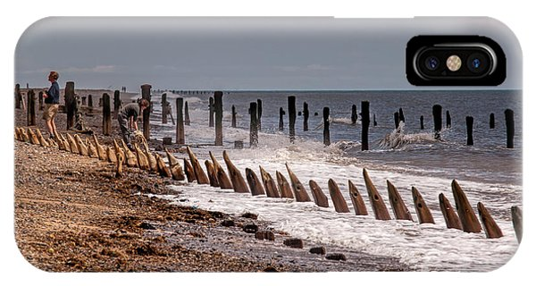 The Sea And Groynes IPhone Case