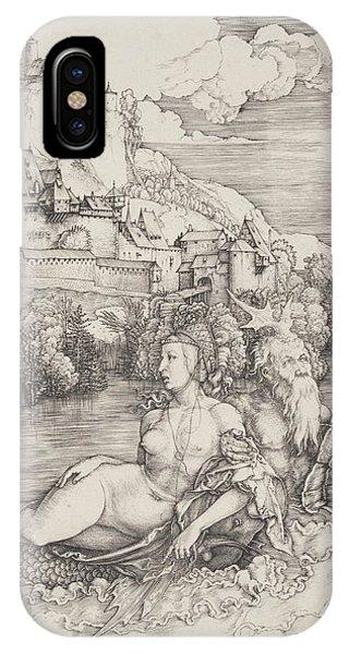 Albrecht Durer iPhone Case - The Sea Monster by Albrecht Durer