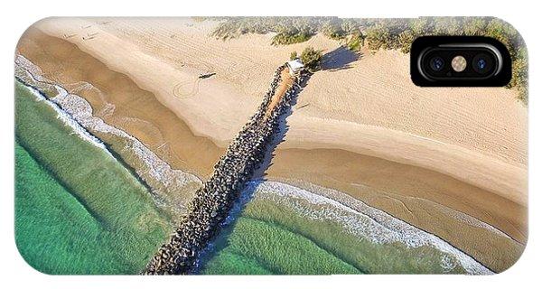 The Sea Wall Near Noosa Main Beach IPhone Case