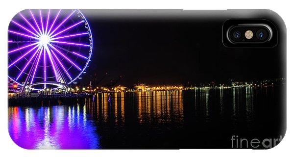 The Seattle Ferris Wheel IPhone Case