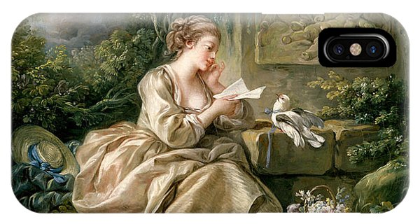 French Artist iPhone Case - The Secret Message by Francois Boucher