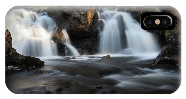 The Secret Waterfall In Golden Light IPhone Case