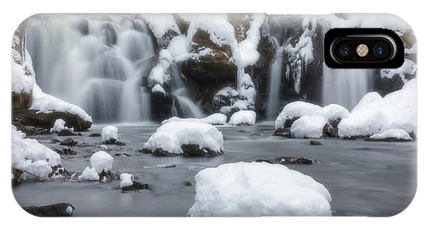 The Secret Waterfall In Winter 1 IPhone Case
