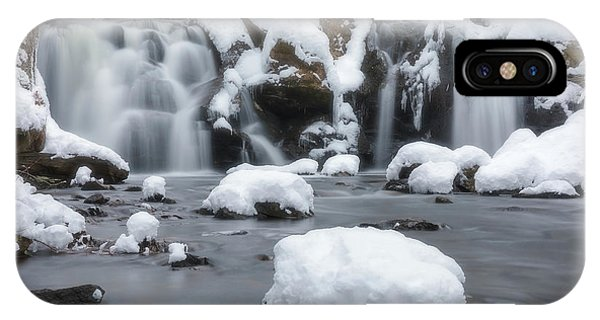 IPhone Case featuring the photograph The Secret Waterfall In Winter 1 by Brian Hale