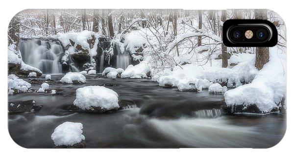 The Secret Waterfall In Winter 2 IPhone Case