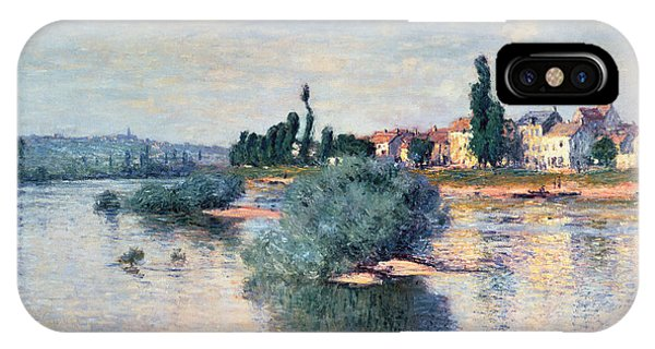 River iPhone Case - The Seine At Lavacourt by Claude Monet