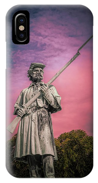 Cemetery iPhone Case - The Sentinel by Tom Mc Nemar